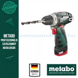 Metabo PowerMaxx BS Fúró-csavarozó 2x 2,0Ah akku