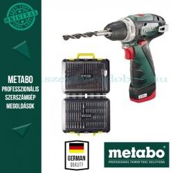 Metabo PowerMaxx BS Fúró-csavarozó + Ryobi RAK125DDF 125 db-os fúró-csavarozó bitszett