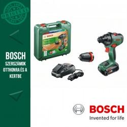 BOSCH AdvancedDrill 18 Akkus fúrócsavarozó + Tokmányadapter (1x2,5Ah) kofferben