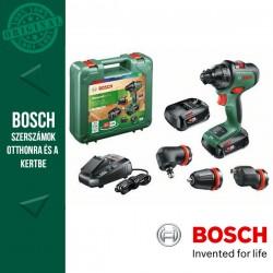 BOSCH AdvancedDrill 18 Akkus fúrócsavarozó + Adapterek (2x2,5Ah) kofferben