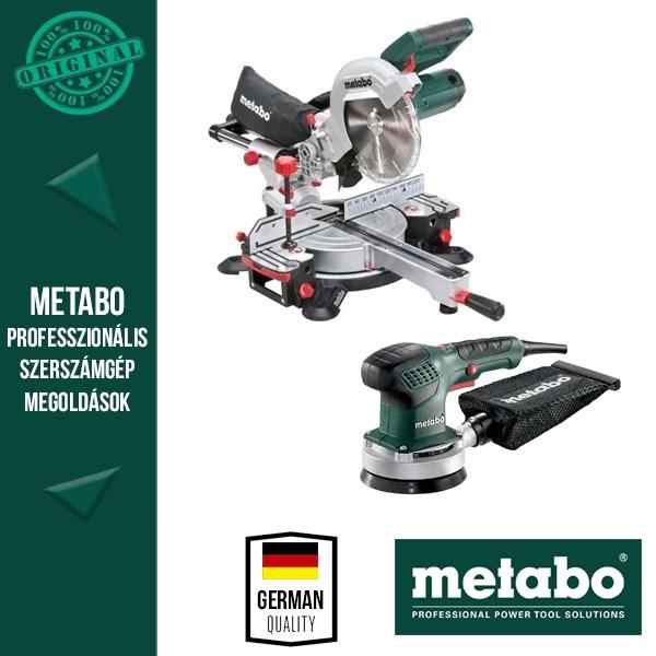 Metabo KGSV 216 M Fejező -és gérvágórűrész + Metabo SXE 3125 Excentercsiszoló