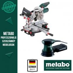Metabo KGSV 216 M Fejező -és gérvágórűrész + Metabo FSX 200 Intec Excentercsiszoló
