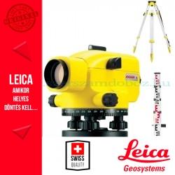 Leica Jogger 24 optikai szintező + CTP104 aluláb + CLR101 szintezőléc