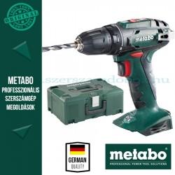 Metabo BS 18 Akkus fúró-csavarozó Alapgép Metaloc kofferben