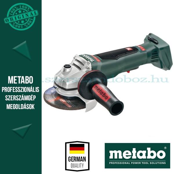 Metabo WB 18 LTX BL 125 Quick Akkus sarokcsiszoló Alapgép
