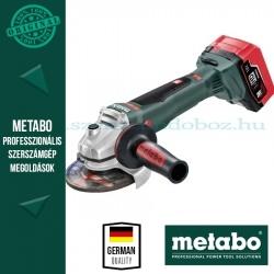 Metabo WB 18 LTX BL 125 Quick Akkus sarokcsiszoló LiHD akkuval