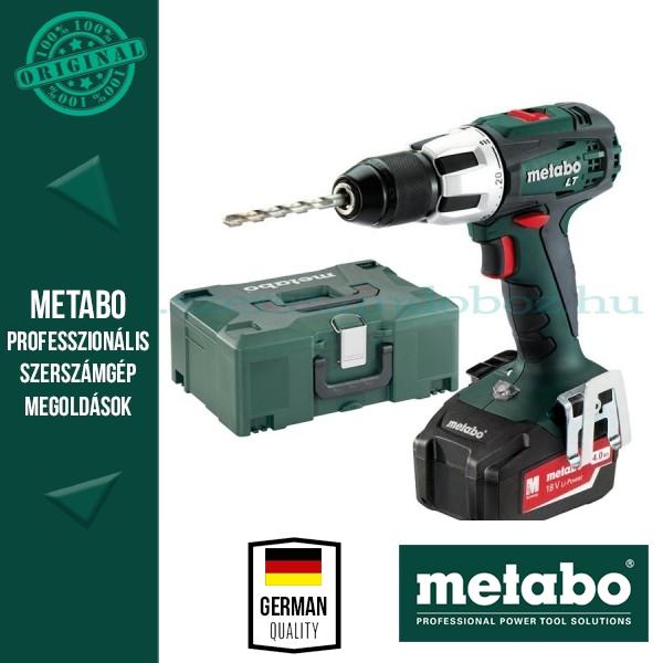 Metabo BS 18 LT Akkus fúró-csavarbehajtó 3x4,0Ah akkuval