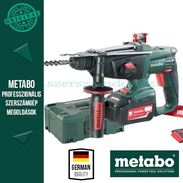 Metabo KHA 18 LTX Akkus kombikalapács 3x4,0Ah akkuval