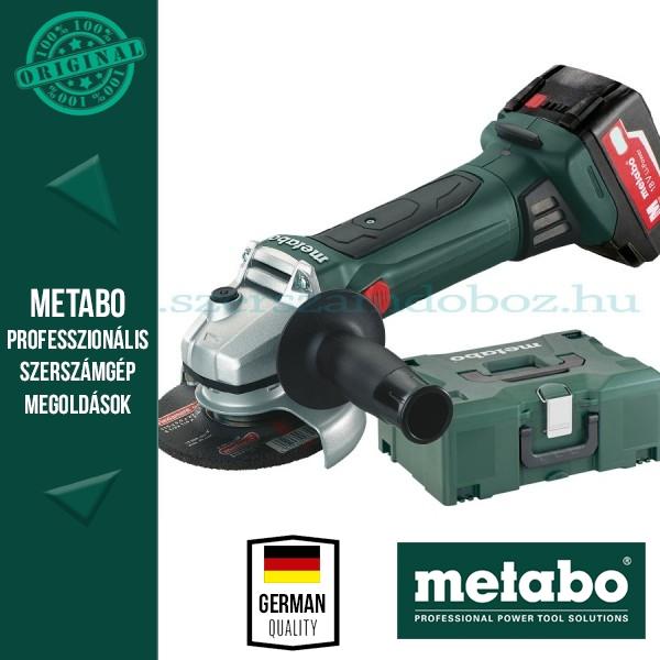 Metabo W 18 LTX BL 125 Quick Akkus sarokcsiszoló 3 akkuval