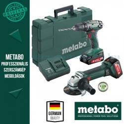 Metabo BS 18 Akkus fúrócsavarozó + W 18 LTX Quick sarokcsiszoló