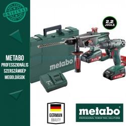 Metabo BS 18 Akkus fúrócsavarozó + KHA 18 LTX kombikalapács