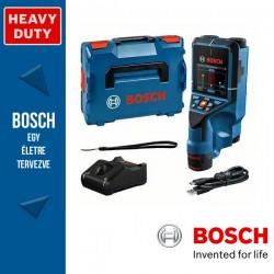 BOSCH D-tect 200 C Falszkenner + 12V 2.0Ah Li-Ion Akkumulátor + GAL 12V-40 töltő + USB-C Kábel + csuklópánt + L-boxx
