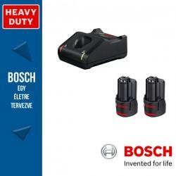 BOSCH 2 x GBA 12V 2,0Ah Akkumulátor + GAL 12V-40 Gyorstöltő