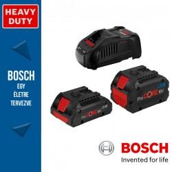 BOSCH 1 x ProCORE 18V 4,0Ah + 1 x ProCORE 18V 5,5Ah Akkumulátor + GAL 1880 CV Gyorstöltő