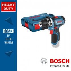 BOSCH GSR 12V-15 FC Akkus fúrócsavarozó (akku és töltő nélkül) + Fúrótokmány adapter L-Boxx-ban