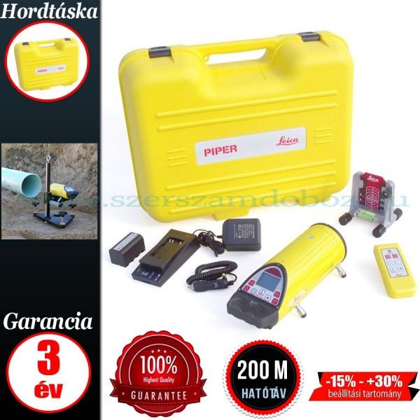 Leica PIPER 200 Csőfektető lézer csomagban