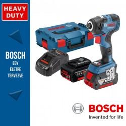 BOSCH GDR 18V-200 C Akkus ütvecsavarozó (2x5,0Ah) L-Boxx-ban