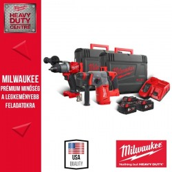 Milwaukee M18FPP2AC-503X M18 FUEL™ Erőcsomag (M18 CHX-0X Akkus Fúrókalapács + M18 FPD2-0X Akkus Ütvefúró-csavarozó)