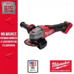 Milwaukee M18FSAGV125XB-0X M18 FUEL 125mm Sarokcsiszoló változtatható sebességgel fékező funkcióval, csúsztatható kapcsolóval