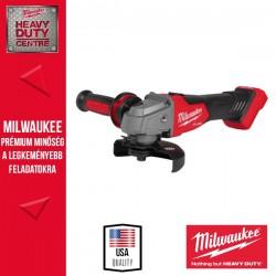 Milwaukee M18FSAG125X-0 M18 FUEL 125mm Sarokcsiszoló változtatható sebességgel, csúsztatható kapcsolóval