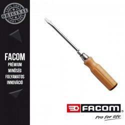 FACOM Kiszélesedő végű lapos csavarhúzó fa nyéllel, 6,5 x 175mm