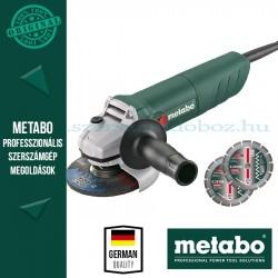 Metabo W 850-125 Sarokcsiszoló + 2db gyémánt darabolótárcsa