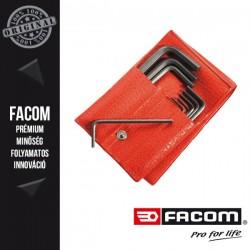 FACOM Rövid Imbuszkulcs készlet tárcában, hatszögű, 1,5-12mm, 12db-os készlet