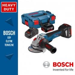 BOSCH GWS 18V-10 PC Akkus sarokcsiszoló 125 mm (2x5,0Ah) L-Boxx-ban