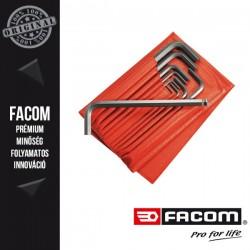 FACOM Hosszú gömbvégű imbuszkulcs készlet tárcában, hatszögű, 2-10mm, 10db-os készlet
