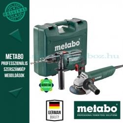 Metabo SBE 650 Ütvefúrógép + W 750-125 Sarokcsiszoló