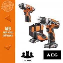 AEG BSB 12C2 402B Akkus fúró-ütvefúró-csavarbehajtó + BSS12-0 ütvecsavarozó