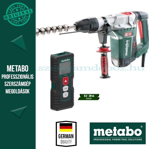 Metabo KHE 5-40 Fúró-vésőkalapács SDS-Max + LD 30 Lézeres távolságmérő