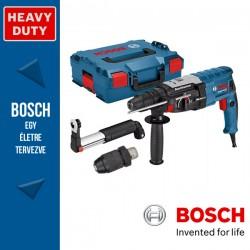 BOSCH GBH 2-28 F Fúrókalapács SDS-Plus + Fúrótokmány + GDE 16 Plus elszívó L-Boxx-ban