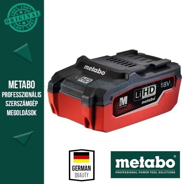Metabo 18V LiHD Akkumulátor 3,1Ah