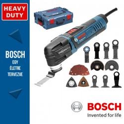 BOSCH GOP 30-28 elektromos Multifunkcionális vágószerszám + Tartozékkészlet L-Boxxban