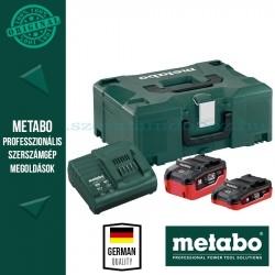 Metabo 18V LiHD Akkucsomag 1x 5,5Ah + 1x 3,1Ah + MetaLoc