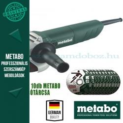 Metabo W 720 - 125 Sarokcsiszoló + AJÁNDÉK 10db vágótárcsa