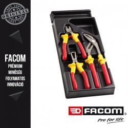FACOM 1000V-ig szigetelt VDE Fogó modul, 3db-os készlet