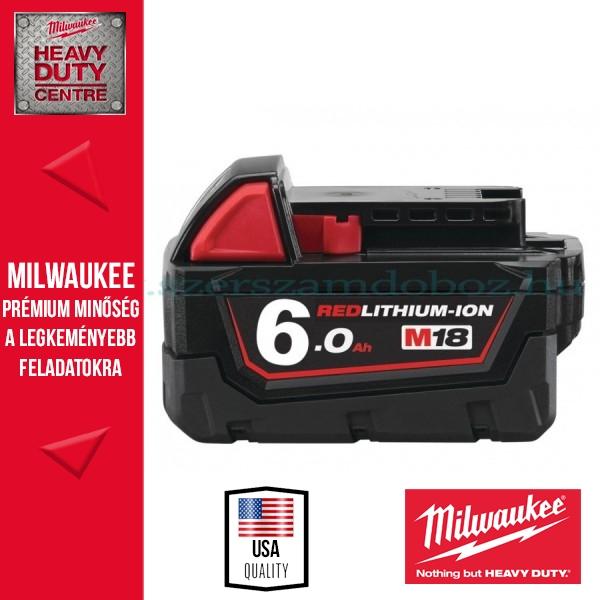 Milwaukee M18B6 REDLITHIUM-ION Akkumulátor 18V/6,0Ah