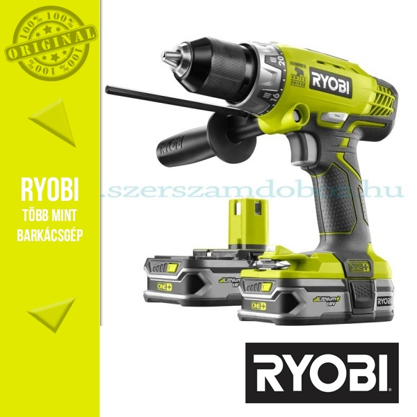 Ryobi R18PD-LL15S Akkumulátoros ütvefúró-csavarbehajtó