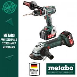 Metabo BS 18 LTX W18 LTX Combo pack (fúrócsavarozó + sarokcsiszoló akkuval és töltővel)