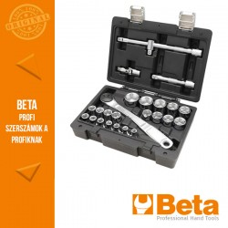 Beta 923E/C25 20 hatlapfejű dugókulcsés 5 tartozék műanyag dobozban