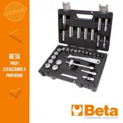 Beta 913E/C33 28 hatlapfejű dugókulcsés 5 tartozék műanyag dobozban