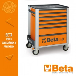 Beta 2400S O7/E-S 7 fiókos szerszámkocsi 240 darabos szerszámkészlettel, narancssárga