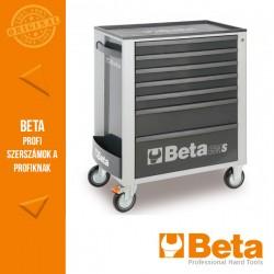 Beta 2400S G7/E-M 7 fiókos szerszámkocsi 309 darabos szerszámkészlettel, szürke