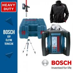 Bosch GRL 500 H Professional Forgólézer Szett + Fűthető kabát