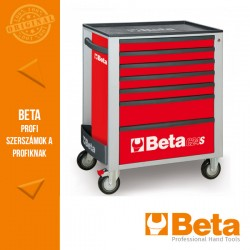 Beta 2400S R7/E-M 7 fiókos szerszámkocsi 309 darabos szerszámkészlettel, piros