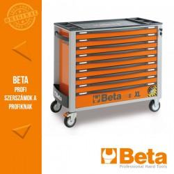 Beta 2400S XLO9/E-XL 9 fiókos szerszámkocsi borulásgátló rendszerrel, hosszú modell, 493 darabos szerszámkészlettel, naracssárga