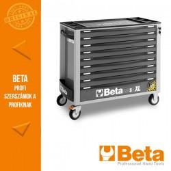 Beta 2400S XLG9/E-XL 9 fiókos szerszámkocsi borulásgátló rendszerrel, hosszú modell, 493 darabos szerszámkészlettel, szürke