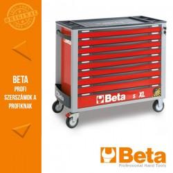 Beta 2400S XLR9/E-XXL 9 fiókos szerszámkocsi borulásgátló rendszerrel, 614 darabos szerszámkészlettel, piros